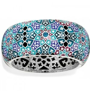 New Brighton Zahra Love Bangle Bracelet Silver Blu
